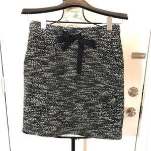 LOFT Short Skirt Tweed Back Zipper Stretch Waist